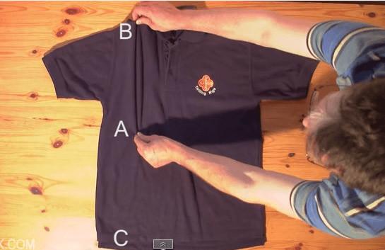 Tシャツたたみ方1