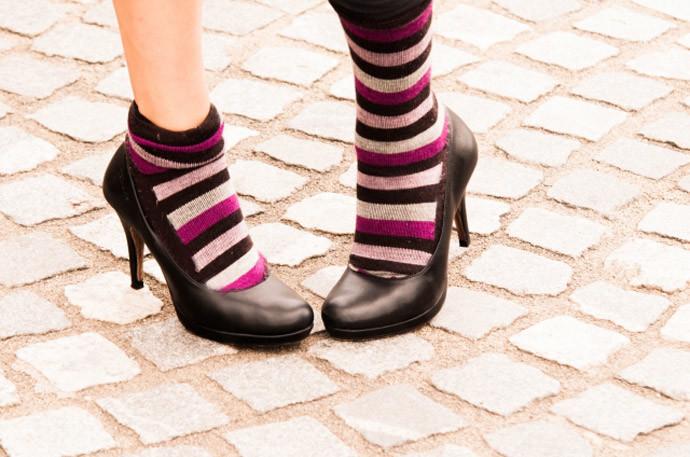 ブカブカの靴を買ってしまったときの対処法(3)靴下を重ねて履く