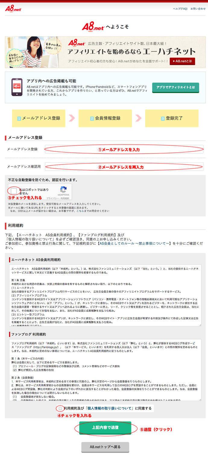 a8.net利用規約