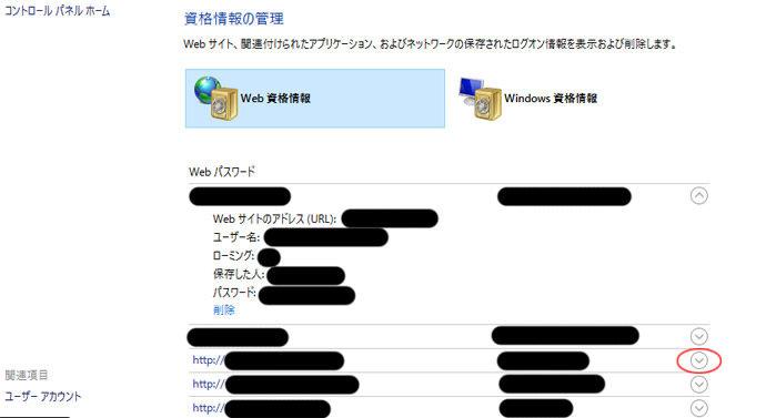 ieパスワード確認方法3