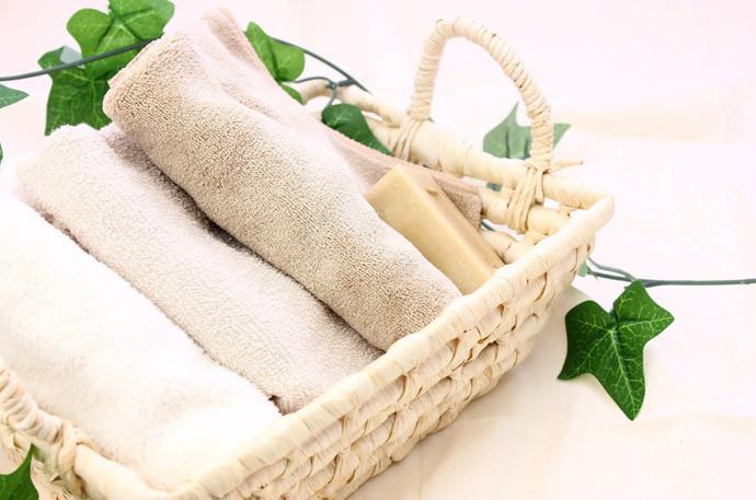 タオルを使う